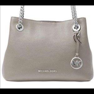 Michael Kors Jet Set Chain - Pearl Grey Crossbody